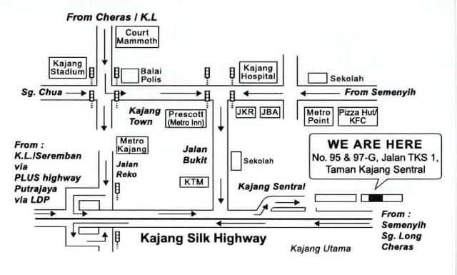Local Map to ACS Eye Specialists Centre